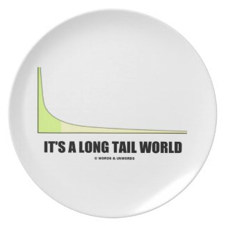 It's A Long Tail World Power Law Graph Humor Party Plate