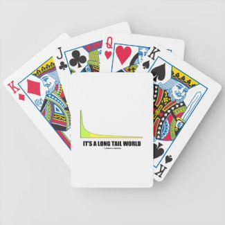 It's A Long Tail World Power Law Graph Humor Bicycle Poker Cards