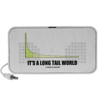 It's A Long Tail World Power Law Graph Humor Travel Speaker