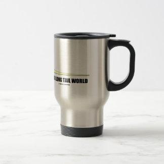 It's A Long Tail World Power Law Graph Humor Travel Mug