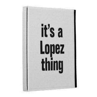 its a lopez thing iPad folio case