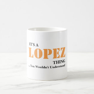 It's A LOPEZ Thing! You Wouldn't Understand Coffee Mug