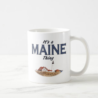 It's a Maine Thing - Lighthouse Classic White Coffee Mug