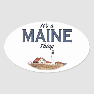 It's a Maine Thing - Lighthouse Oval Sticker