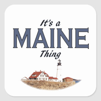 It's a Maine Thing - Lighthouse Square Sticker