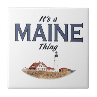 It's a Maine Thing - Lighthouse Tile