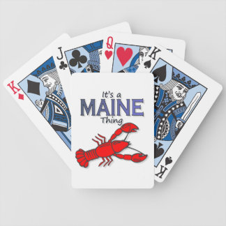 It's a Maine Thing - Lobster Bicycle Playing Cards