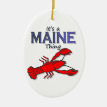 It's a Maine Thing - Lobster Ceramic Ornament