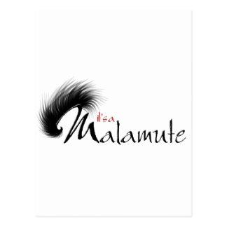 It's a Malamute logo design Postcard