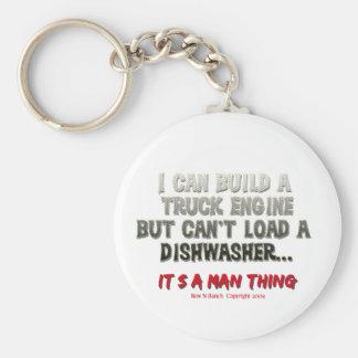 It's a man thing: Engine vs. Dishwasher Keychain