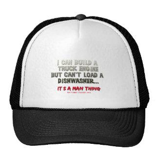It's a man thing: Engine vs. Dishwasher Trucker Hat