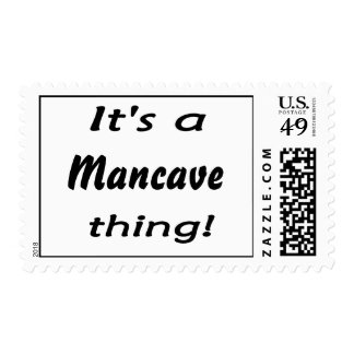 It's a mancave thing! postage stamp