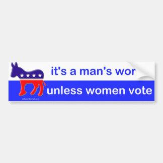 it's a man's world car bumper sticker