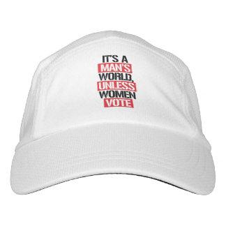 It's a Man's world unless women vote --  Headsweats Hat