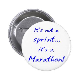 It's a Marathon - blue Button