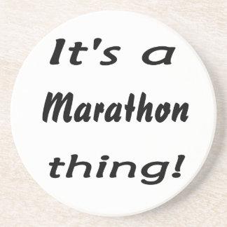 It's a marathon thing! beverage coasters