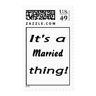 It's a married thing! postage