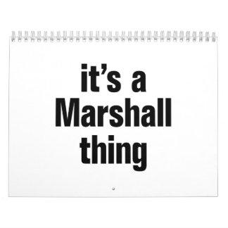 its a marshall thing calendar