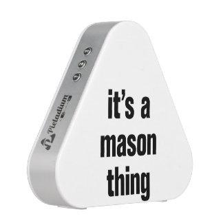 its a mason thing speaker