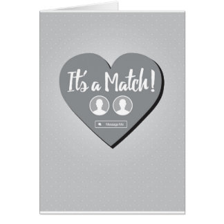 It's A Match Dating Card
