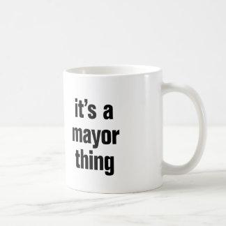 its a mayor thing classic white coffee mug