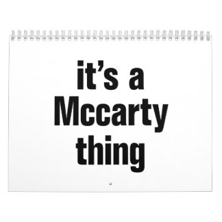 its a mccarty thing calendar