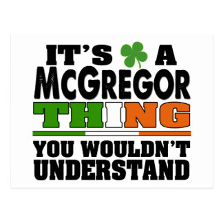 It's a McGregor Thing You Wouldn't Understand. Postcard