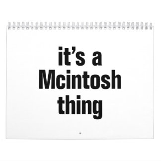 its a mcintosh thing calendar