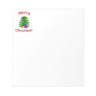 It's a Merry Christmas tree! Memo Pad