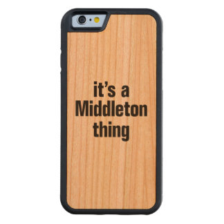 its a middleton thing carved® cherry iPhone 6 bumper