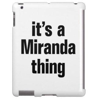 its a miranda thing