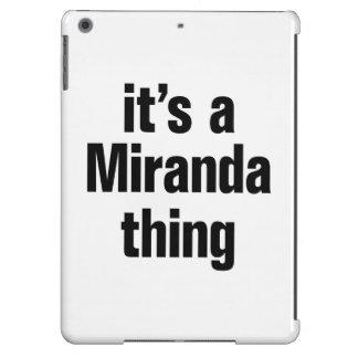 its a miranda thing iPad air cover