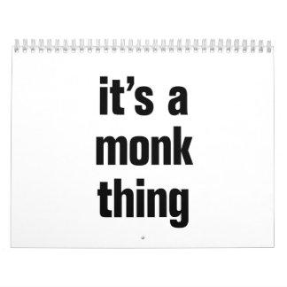 its a monk think calendar
