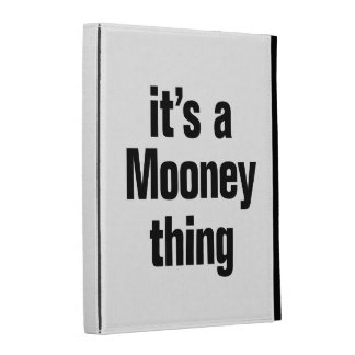its a mooney thing iPad folio case