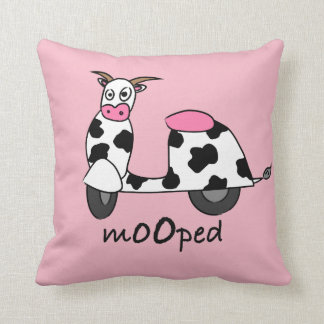 It's a Mooped! Throw Pillow