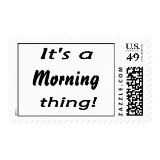 It's a morning thing! stamps