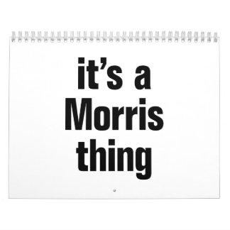 its a morris thing calendar