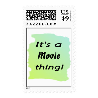 It's a movie thing! postage stamps
