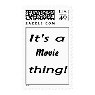 It's a movie thing! postage