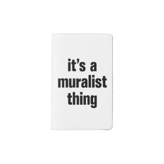 its a muralist thing pocket moleskine notebook cover with notebook