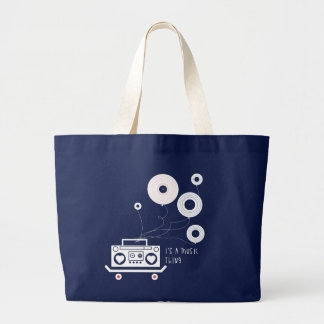 It's a music thing large tote bag