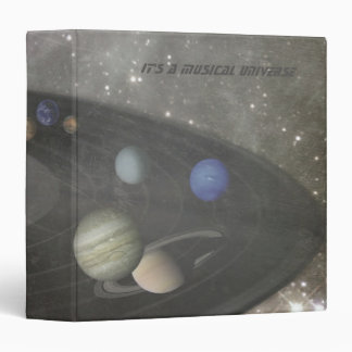 It's a Musical Universe 3 Ring Binder