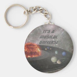 It's a Musical Universe Basic Round Button Keychain