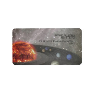 It's a musical universe personalized address label