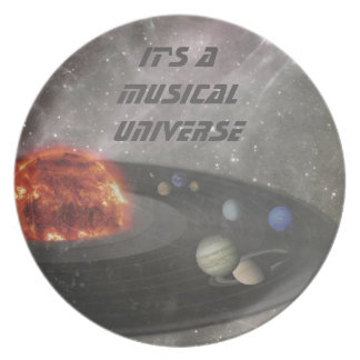 It's a Musical Universe Melamine Plate