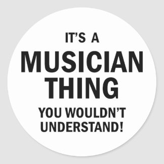 It's A Musician Thing Classic Round Sticker