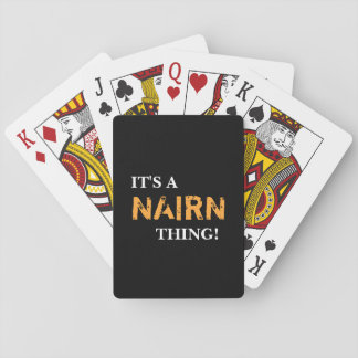 IT'S A NAIRN THING! PLAYING CARDS