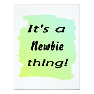 It's a newbie thing! 4.25x5.5 paper invitation card