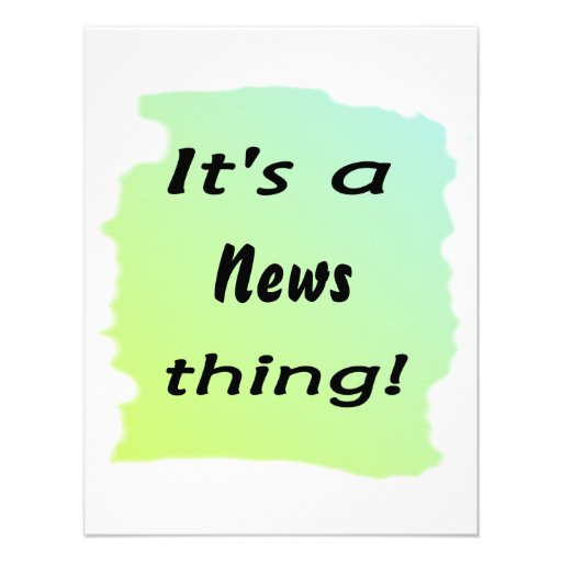 It's a news thing! announcements