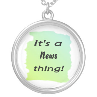 It's a news thing! round pendant necklace